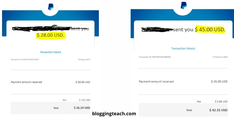 Sponsorship payment proof